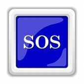 stock photo of sos  - SOS icon - JPG