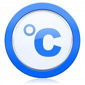 stock photo of temperature  - celsius icon temperature unit sign  - JPG