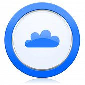 picture of barometer  - cloud icon waether forecast sign  - JPG