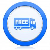 stock photo of free-trade  - free delivery icon transport sign  - JPG