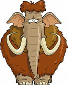 picture of mammoth  - Shaggy Mammoth on a white background vector illustration - JPG