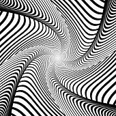 foto of distortion  - Design whirlpool movement illusion background - JPG