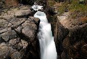 stock photo of beartooth  - Waterfall in the Beartooth Mountain Range - JPG