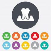 image of gingivitis  - Parodontosis tooth icon - JPG