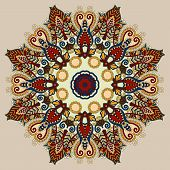 stock photo of decorative  - beige colour mandala - JPG