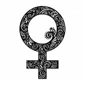 image of gender  - Vector Female Gender Symbol - JPG