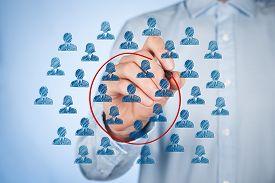 picture of labourer  - Marketing segmentation concept  - JPG