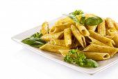picture of pesto sauce  - Pasta with pesto sauce - JPG