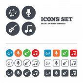 stock photo of musical symbol  - Music icons - JPG