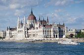 foto of hungarian  - Hungarian Parliament and Danube river in Budapest - JPG