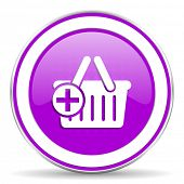 picture of cart  - cart violet icon shopping cart symbol