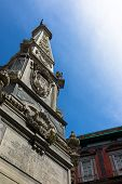 image of obelisk  - San Domenico Maggiore square whit its caratheristic obelisk naples - JPG