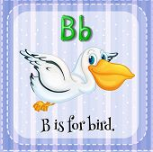 pic of letter b  - Flashcard letter B is for bird - JPG