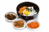 image of kimchi  - Fried rice with kimchi and pork - JPG