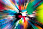 image of starburst  - Abstract multicolored background - JPG