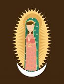 picture of mary  - Holy Mary design over brown background - JPG