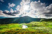 foto of blue ridge mountains  - Alpine lake Brebeneckul on summer mountain ravine  - JPG