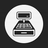 foto of cash register  - Cash Register Icon - JPG