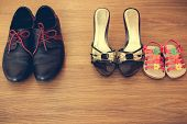 foto of mother child  - Three pairs of shoes - JPG