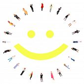 stock photo of smiley face  - smiling - JPG