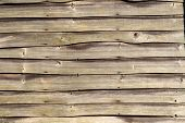 An Old Natural Wooden Weathered Fence.  Good For Backgrounds. poster