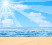 picture of sunset beach  - Beach illustration - JPG