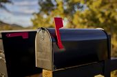 Black Mailbox With Red Flag poster