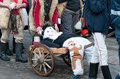 Traditional Winter Ending Carnival In Romania.  At The End  The Doll Will Be Burned, Symbolising  Th poster