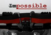 Impossible With The Text Im Deleted And Then Everything Is Possible poster