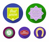 Special Offer, Best Prise, Guarantee, Bio Product.label, Set Collection Icons In Flat Style Vector S poster