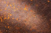 Rusty Metal Texture Or Rusty Metal Background. Rusty Metal For Interior Exterior Decoration And Indu poster