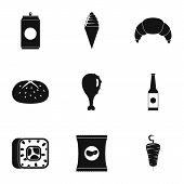 Gobble Icons Set. Simple Set Of 9 Gobble Vector Icons For Web Isolated On White Background poster