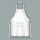 Isolated Apron Mock Up. Protective White Cloth, Working Uniform For Kitchen Cooking Chef Or Baker, B poster
