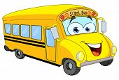 picture of bus driver  - Vector cartoon of a smiling school bus - JPG