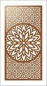 Vector Laser Cut Panel. Pattern Template For Decorative Panel. Wall Panels Or Partition. Jigsaw Die  poster