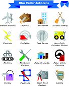Vector Illustration Ready-to-use 16 Colorful Blue Collar Job Flat Icons Designed As Multiple Profess poster
