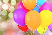 Color Colorful Bunch Balloons Fun Background Isolated poster