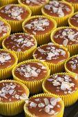 Caramel Cake Decoration Process. Delicious Homemade Flan Dessert Or Creme Caramel Dessert . Fresh An poster