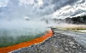 Champagne Pool At The Wai-o-tapu Thermal Wonderland In New Zealand. poster