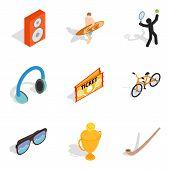 Entertainment Program Icons Set. Isometric Set Of 9 Entertainment Program Vector Icons For Web Isola poster