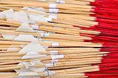 foto of glorify  - Many of joss stick for Buddha worship - JPG