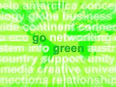 Go Green Words Showing Recycling And Eco Friendly