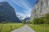 Idyllic Landscape Of Lauterbrunnen Valley, Jungfrau, Swiss poster