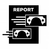 Expense Report Icon. Simple Illustration Of Expense Report Vector Icon For Web Design Isolated On Wh poster