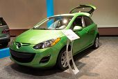 JACKSONVILLE, FLORIDA-FEBRUARY 18: A 2012 Mazda2 Sport at the Jacksonville Car Show on February 18,