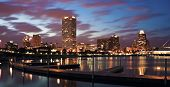 Evening Panorama Of Milwaukee