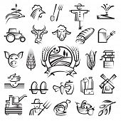 image of scarecrow  - agriculture and farming icons - JPG