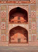 stock photo of mughal  - The tomb of Mughal Emperor Akbar is one of the many Mughal Architectural highlights to be seen in Agra - JPG
