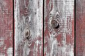 Red-gray Wooden Background. Vertical Boards. Old Paint Peels Off. Old Boards. Red Gray Wood Texture  poster