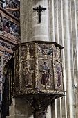 picture of baeza  - Pulpit in the interior of the cathedral of Baeza - JPG